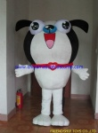 Big head dog plush mascot costume