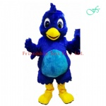 Blue bird costume character mascot
