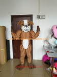 Muscular bulldog animal mascot costume