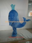 Blue shark mascot costume OEM design