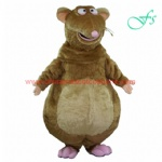 Brown color mouse moving mascot, mouse costume for adult