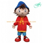 Noddy in Toyland mascot costume, Noddy cartoon costume