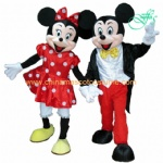 Mickey and Minnie mascot costume, Mickey costume, Minnie costume