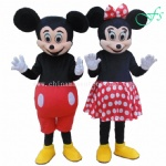 Mickey and Minnie dancing mascot costume, Mickey mascot, Minnie mascot