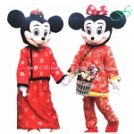 Mickey and Minnie mascot costume for New Year Party