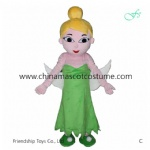 Tinker Bell Fairy mascot costume, Fairy cartoon costume