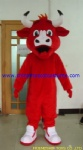 Red bull mascot costume,benny the bull mascot costume