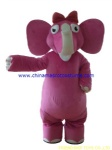 Pink elephant animal mascot costume
