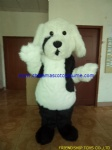 Long plush dog mascot costume