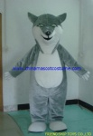 Wolf moving mascot costume,wolf mascot costume