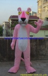 Pink leopard,panther animal mascot costume